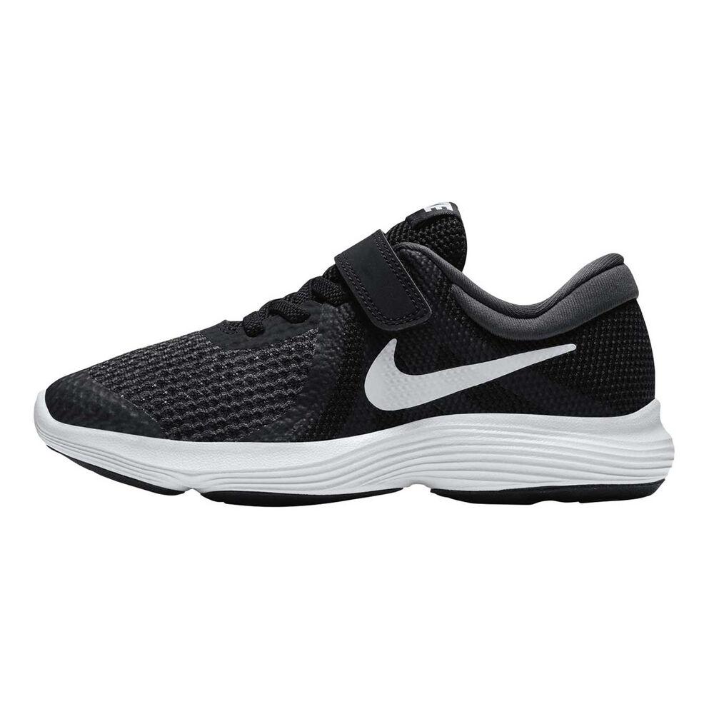 543707fee7b Nike Revolution 4 Junior Boys Running Shoes Black   White US 2 ...