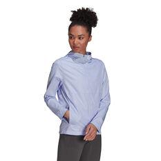 adidas Womens Own The Run Hooded Wind Jacket Purple XS, Purple, rebel_hi-res