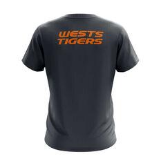 Wests Tigers Exclusive Tee Grey S, Grey, rebel_hi-res