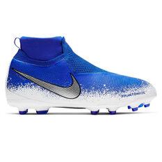 Nike Phantom Vision Elite Dynamic Fit Kids Football Boots Blue / Black US 4, Blue / Black, rebel_hi-res