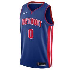 Nike Detroit Pistons Andre Drummond 2018 Mens Swingman Jersey Rush Blue S, Rush Blue, rebel_hi-res
