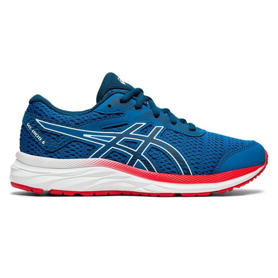 Asics GEL Excite 6 Kids Running Shoes, Blue / Red, rebel_hi-res