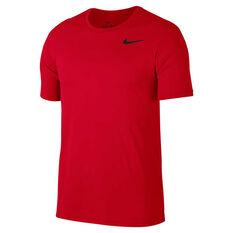 Nike Mens Superset Training Tee Red S, Red, rebel_hi-res
