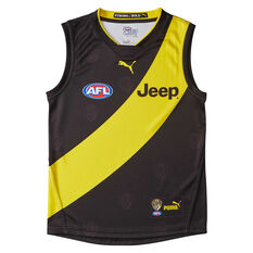 Richmond Tigers 2019 Youth's Home Guernsey Black / Yellow 8, Black / Yellow, rebel_hi-res