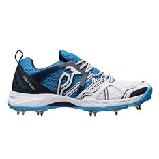 Kookaburra Pro 1500 Spike Junior Cricket Shoes White / Blue US 5, White / Blue, rebel_hi-res