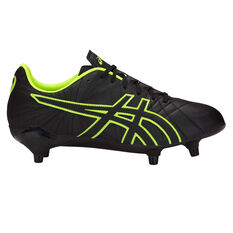 Asics Lethal Tigreor ST Mens Football Boots Black / Green US Mens 8 / Womens 9.5, Black / Green, rebel_hi-res