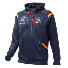 Adelaide Crows 2020 Mens Squad Hoodie Navy S, Navy, rebel_hi-res