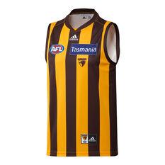 Hawthorn Hawks 2021 Mens Home Jersey Brown S, Brown, rebel_hi-res