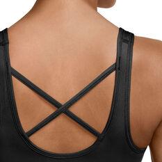 Nike Womens Dri-FIT Swoosh Icon Clash Non-Padded Sports Bra, Black, rebel_hi-res