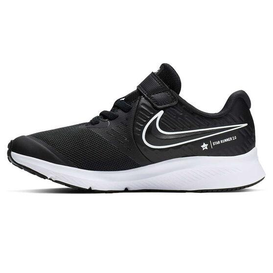 Nike Star Runner 2 Kids Running Shoes Black / White US 1, Black / White, rebel_hi-res