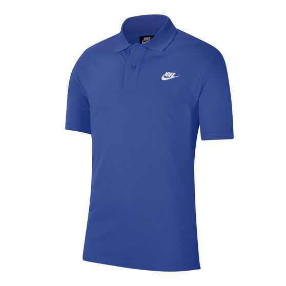 Nike Sportswear Mens Matchup Pique Polo, Blue, rebel_hi-res