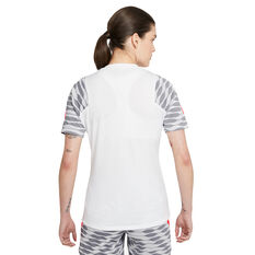 Nike Womens Dri-FIT Strike Short Sleeve Soccer Tee White XXL, White, rebel_hi-res
