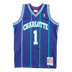 Charlotte Hornets Muggsy Bogues 94/95 Mens Swingman Jersey Blue S, Blue, rebel_hi-res