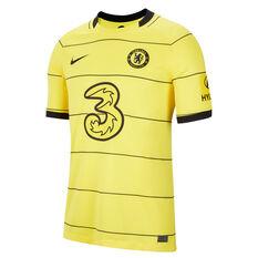 Chelsea FC 2021/22 Mens Stadium Away Jersey Yellow S, Yellow, rebel_hi-res