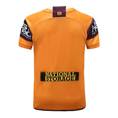 Brisbane Broncos 2020 Kids Away Jersey Gold / Maroon 6, Gold / Maroon, rebel_hi-res
