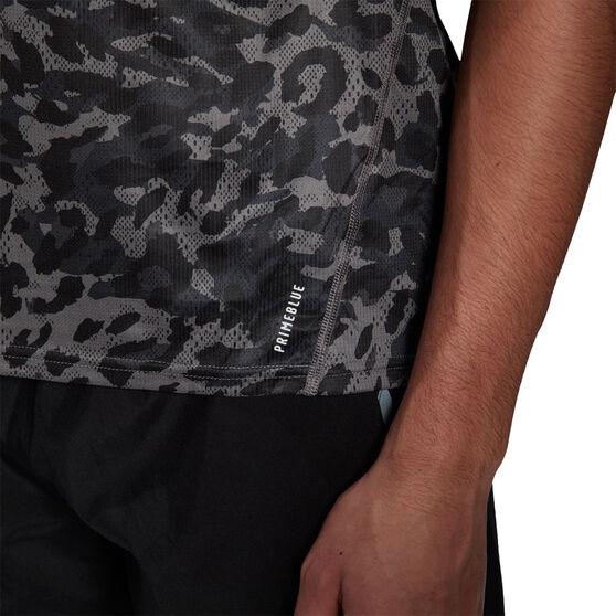 adidas Mens Primeblue Graphic Tee, Grey, rebel_hi-res