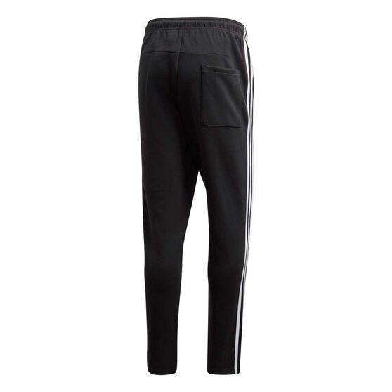 adidas Mens Must Haves 3 Stripe Tapered Pants, Black, rebel_hi-res