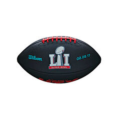 Wilson NFL Super Bowl 51 Junior Rubber Football, , rebel_hi-res