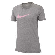 Nike Womens Dri-FIT Training Tee, Grey, rebel_hi-res