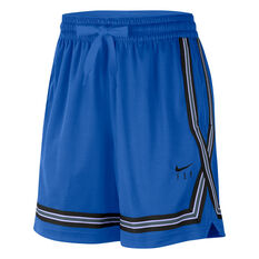 Nike Womens Swoosh Fly Basketball Shorts Blue XS, Blue, rebel_hi-res