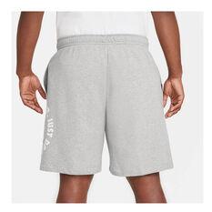 Nike Mens Sportswear Just Do It Fleece Shorts Grey XS, Grey, rebel_hi-res