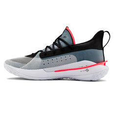 Under Armour Curry 7 Mens Basketball Shoes White / Red US 7, White / Red, rebel_hi-res