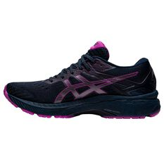 Asics GT 2000 9 Lite Show Womens Running Shoes Black/Pink US 6, Black/Pink, rebel_hi-res