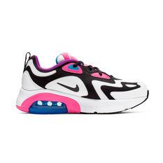 Nike Air Max 200 Kids Casual Shoes White / Pink US 4, White / Pink, rebel_hi-res