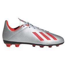 082245f9a adidas X 19.4 Kids Football Boots Silver   Red US 11