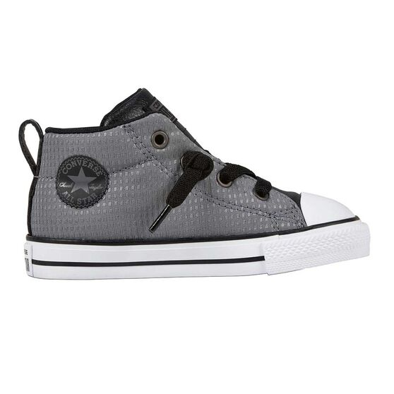 5282e04da887 Converse Chuck Taylor All Star Street Back Pack Toddlers Shoes Grey   Black  US 8