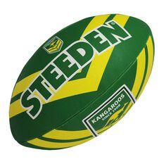 Steeden NRL Australian Kangaroos Rugby League Ball Green/Gold 5, , rebel_hi-res