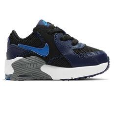Nike Air Max Excee Toddler Shoes Black/Blue US 4, Black/Blue, rebel_hi-res