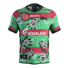 South Sydney Rabbitohs 2019 Mens Indigenous Jersey Red / Green S, Red / Green, rebel_hi-res