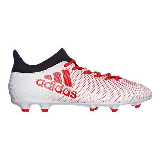 on sale f6349 7eb28 adidas X 17.3 FG Mens Football Boots White / Orange US 9 Adult