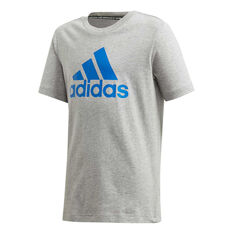 adidas Boys Must Haves Badge of Sport Tee Grey/Blue 6, , rebel_hi-res