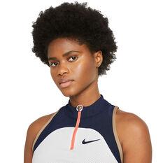 NikeCourt Womens Slam Tennis Dress White M, White, rebel_hi-res