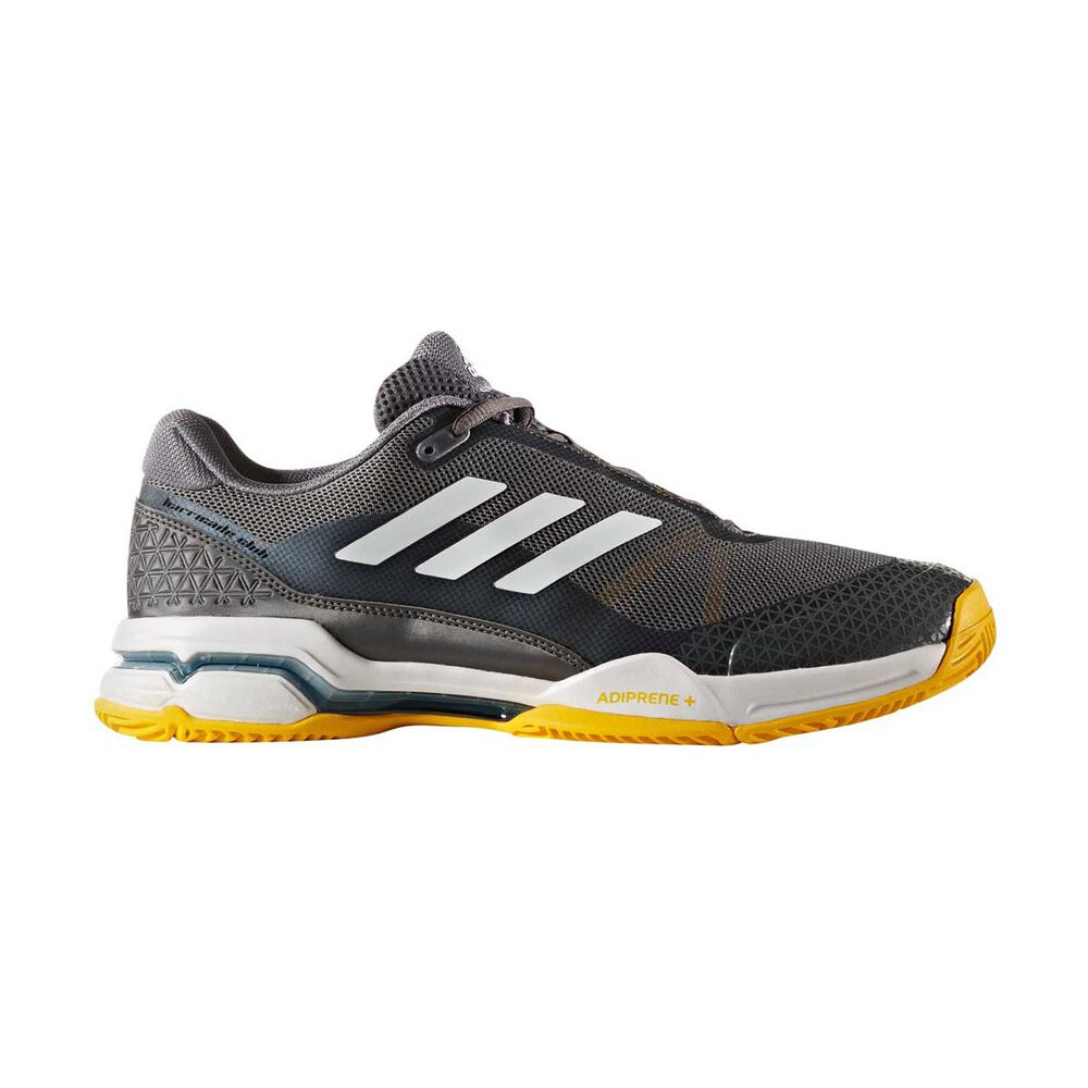 best cheap 6ce34 f42ca adidas Barricade Club Mens Tennis Shoes Black   White US 8.5, Black   White,
