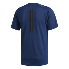 adidas Mens FreeLift Tech Climacool Fitted Tee Navy S, Navy, rebel_hi-res