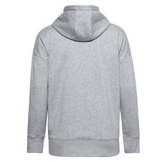 Under Armour Womens Rival Fleece Full Zip Hoodie Grey XS, Grey, rebel_hi-res
