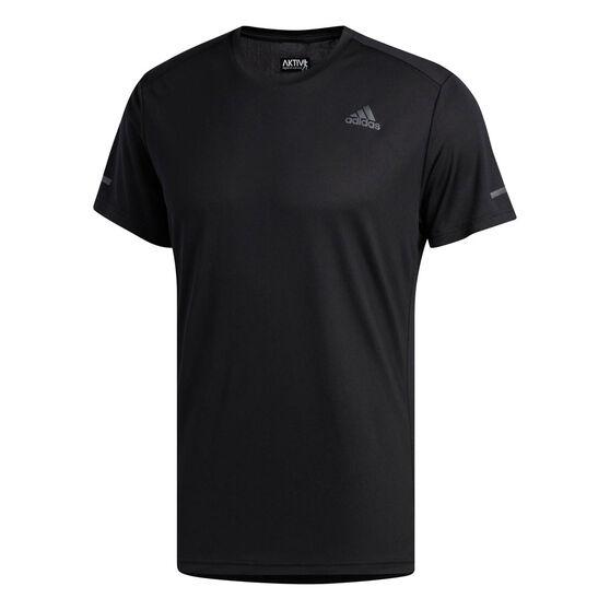 adidas Mens Run It Tee, Black, rebel_hi-res