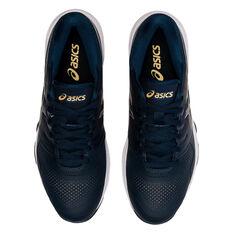 Asics GEL Netburner 20 D Womens Netball Shoes, Navy/Gold, rebel_hi-res