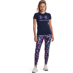 Under Armour Womens Graphic Sportstyle Classic Tee, Navy, rebel_hi-res