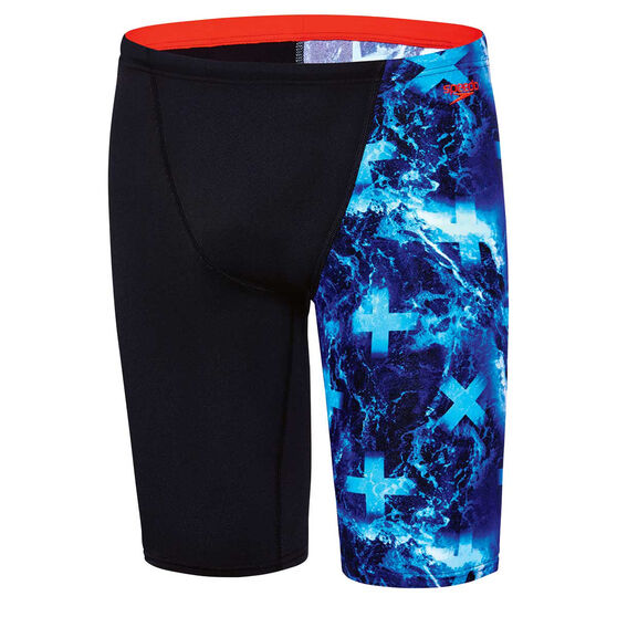 Speedo Mens Pacific Ocean Jammer Swim Shorts, Blue, rebel_hi-res