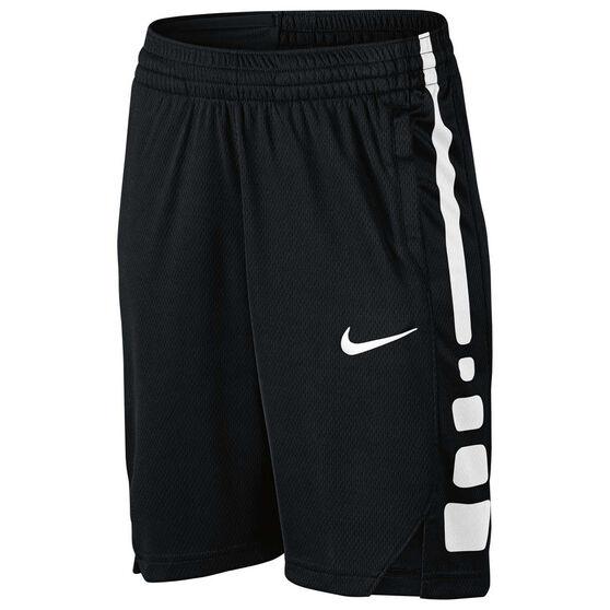 cea505e3fb19 Nike Boys Elite Basketball Shorts Black   White XL