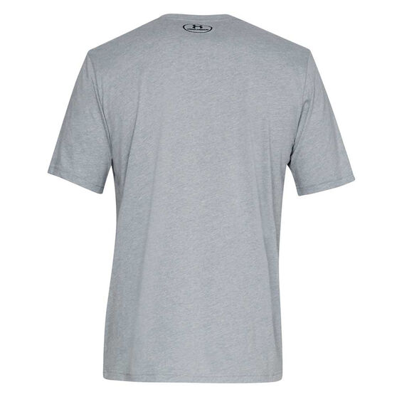 Under Armour Mens Sportstyle Tee Grey S, Grey, rebel_hi-res