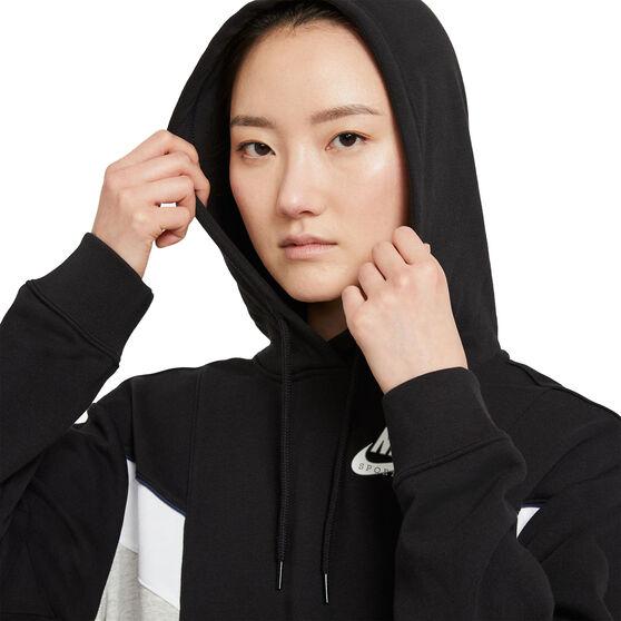 Nike Womens Sportswear Heritage Hoodie, Black, rebel_hi-res
