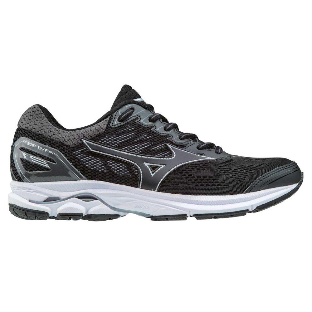 Mizuno Wave Rider 21 Womens Running Shoes Black   Silver US 6 ... e6cc88807