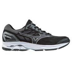 Mizuno Wave Rider 21 Womens Running Shoes Black / Silver US 6, Black / Silver, rebel_hi-res
