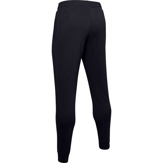 Under Armour Mens Rival Fleece Wordmark Jogger Pants Black 2XL, Black, rebel_hi-res