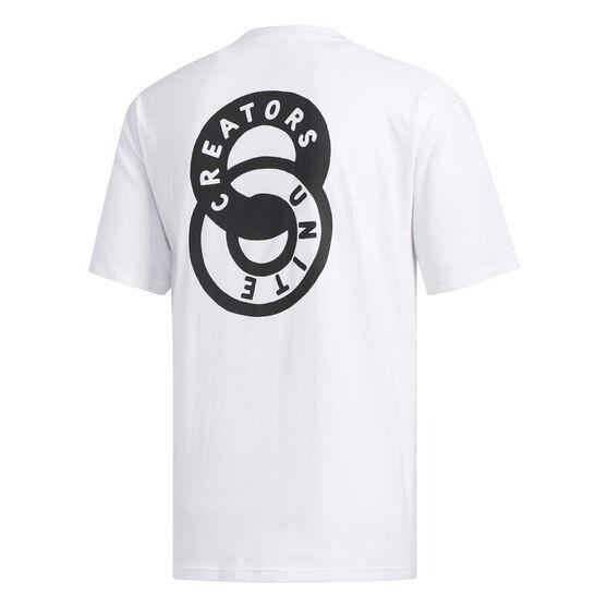 adidas Mens One Team Tee, White, rebel_hi-res
